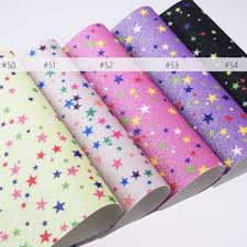 details about 8 12 night sky star faux leather sheets glitter fabric leather hair bows 1pcs