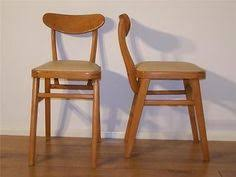 pair of vine cafe kitchen dining chairs 50s 60s beech wood retro taunton