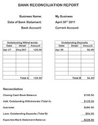 bank reconciliation form business bank reconciliation template bank reconciliation forms
