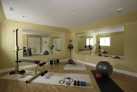 Basement Exercise Room traditional-home-gym