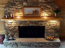 decor antique fireplace mantel shelf with faux stacked stone