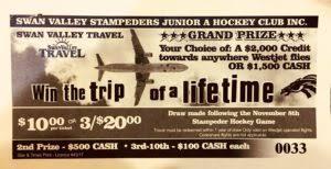 Trip of a Lifetime Winners | Swan Valley Stampeders