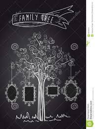 Family Tree Design In Illustration Board Vintage Family Tree Stock Vector Illustration Of Composite