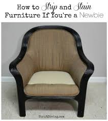 How to Strip Furniture and Stain It Thrift Diving Blog