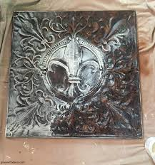 painting metal for a cool diy wall art project