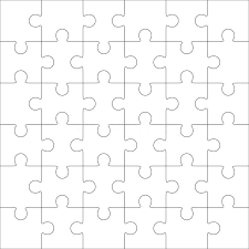 4 Piece Puzzle Template Printable 24 Jigsaw Post Pieces ...