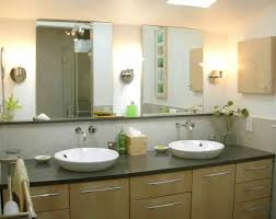 modern bathroom wall sconces. Smart Modern Wall Sconce Design Bathroom Vanity Ideas Sconces With Double Sink Vessel And Two Frameless Mirrors.jpg