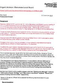 Agenda Of Manurewa Local Board - 11 December 2014
