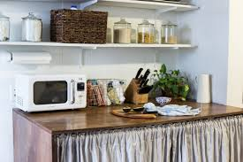 the countertop both adds a ton of useful space for cooking preparation storing the microwave and knives and generally having somewhere to put things