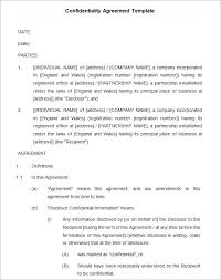 confidentiality agreement template confidentiality agreement templates 8 free word documents