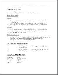 Examples Of Educational Resumes Education Resume Samples Physical