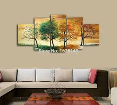 Paintings For Living Rooms Aliexpresscom Buy Modern Abstract Handpainted 4 Piece Oil