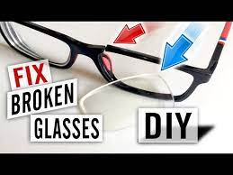 how to fix broken glasses yourself