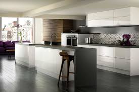 Stylish Kitchen Cabinets The Stylish High Gloss White Kitchen Cabinets