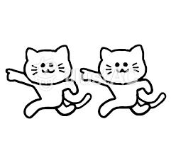 道案内する猫動物シンプルイラスト No 1398612無料イラストなら