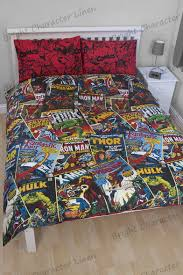 Marvel Comics Superheros Queen Bed Quilt Cover Set - Bright ... & ... Marvel Comics Superheros Queen Bed Quilt Cover Set. Image 1 Adamdwight.com