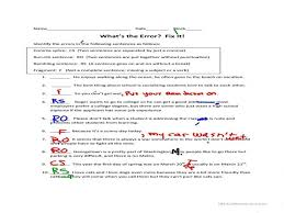 Correcting Run On Sentences Worksheets - Checks Worksheet
