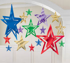 Decorative Stars For Parties Foil Stars 3d Decorative Kit Jewel Tone Webhatscom