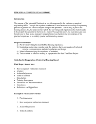 Training Report Cover Page Doc Industrial Training Final Report 090308 1 Doc Achik