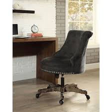 sinclair gray polyester office chair gray brown walnut walnut brown