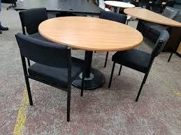 round meeting room table w four chairs