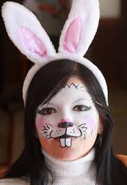 rabbit face makeup face painting yourself is not as easy as it looks
