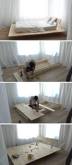 modern platform bed wood. This Tutorial For A DIY Modern Platform Bed Teaches You How To Create Simple Wood