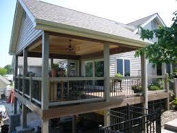 covered deck ideas. Backyard Covered Deck Ideas E