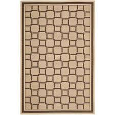 resort weave cream chocolate 8 ft x 11 ft area rug