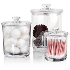 clear glass bathroom accessories. premium quality clear plastic apothecary jars | set of 3 glass bathroom accessories c