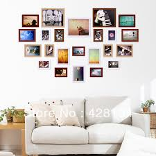 multiple picture frames wood. Heart Shape Solid Wood Photo Wall (PW007), 23 Frames Set, Multiple Styles And Colors Available, Love Theme, Free Template-in Frame From Home \u0026 Garden On Picture