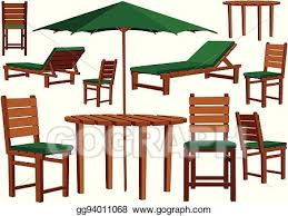 garden furniture and sun loungers eps