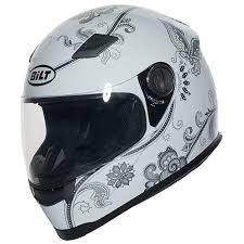 Bilt Womens Gem Full Face Motorcycle Helmet Xs White