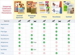 Flea Tick Prevention Comparison Chart Choosing The Best Heartworm And Flea Prevention 1800petmeds