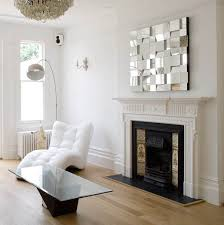 white fireplace design and wall decoration