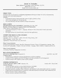 Sample Resume For Computer Science Fresh Graduate Free Download