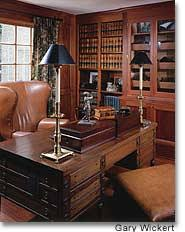 Ralph lauren home office Desk Set The Mike And Julia Graal Home Office In Fox Point Was Designed By Judy Fleming Of Manhattan Textiles And Built By Barteltfilo Gmtodaycom Improvements