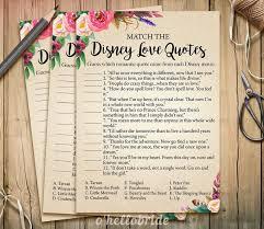 Disney Wedding Quotes Mesmerizing Disney Love Quotes Match Game Printable Boho Bohemian Bridal