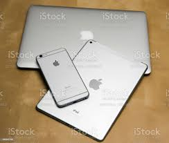 Apple Iphone 6 Plus Ipad Air 2 And Macbook Air Stock Photo - Download Image  Now - iStock