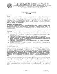 Certified Respiratory Therapist Resume Sales Therapist Respiratory
