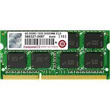 Transcend 4 GB <b>DDR3</b>-<b>1333 MHz</b> RAM, Memory Module for <b>Laptop</b>
