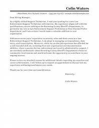 Law Enforcement Cover Letter Free Letter Templates