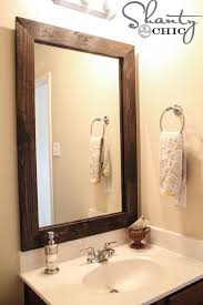 wood framed bathroom mirrors. Small Changes Can Go A Long Way In Bathroom. Check Out These Simple Ways To Update Your Space! Wood Framed Bathroom Mirrors