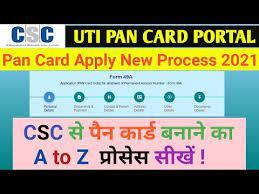 csc uti pan card new process 2021 uti