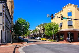 people in the historic district winter haven florida