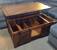 pop up coffee table storage