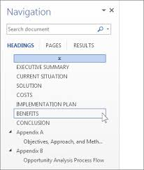 What Is Another Word For Document Use The Navigation Pane In Word Word