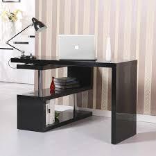Office Rotating Office Desk And Shelf Combo Black Desks For Home