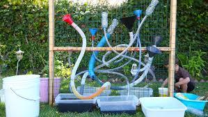 make a freestanding diy water wall