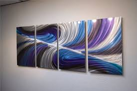abstract metal wall art contemporary modern decor echo blue  on blue abstract metal wall art with abstract metal wall art contemporary modern decor echo blue purple